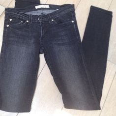 Basic Black Skinnies Black faded skinny jeans  in new condition Pants