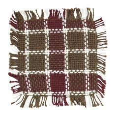 Everson - Burlap Plaid - Coaster Set