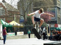 #Skateboard #Poster featuring the photograph Skateboarding by Judi Saunders