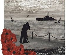 Thankful For The Little Ships from the War Poppy Collection by Remembrance Artist Jacqueline Hurley fine art print Remembrance Day Pictures, Remembrance Day Activities, Remembrance Day Poppy, Veterans Memorial Day, Armistice Day, Lest We Forget, Historical Pictures, Pictures To Draw, Cool Artwork