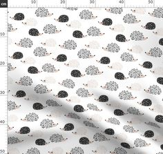 Colorful fabrics digitally printed by Spoonflower - Scandinavian sweet hedgehog illustration for kids gender neutral black and white Hedgehog Illustration, Mid Century Modern Curtains, Black And White Fabric, Scandi Style, Cool Fabric, Natural Texture, Cool Baby Stuff, Spoonflower, Gender Neutral