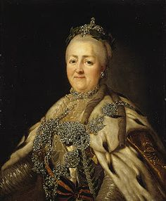 Catherine II by anonymous after Roslin c., Hermitage) - Portraits of Catherine II of Russia - Wikimedia Commons Catherine La Grande, Catalina La Grande, Friedrich Ii, Adele, House Of Romanov, Catherine The Great, Hermitage Museum, Tsar Nicholas Ii, Imperial Russia