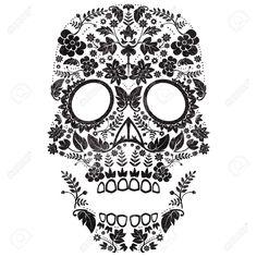 21586512-day-of-the-dead-sugar-skull-illustration.jpg (1300×1300)