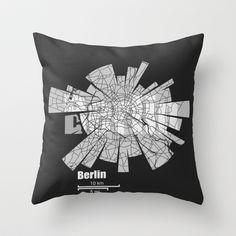 Berlin Throw Pillow by Shirt Urbanization - $20.00 http://society6.com/ShirtUrbanization/Berlin-GDx_Pillow
