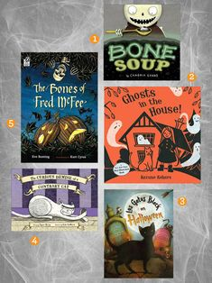 Halloween Books. Click through for 10 not-too-scary picks!