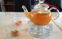 Warm Fruitty Drink on a Sunday afternoon. On A Sunday Afternoon, Fruit Tea, Pastries, Tea Pots, Breads, Toast, Warm, Drink, Tableware