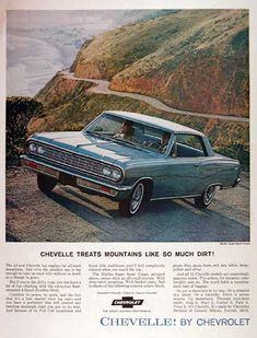 A History of Chevy's Ultimate Muscle Car: The Chevelle Super Sport 1964 Chevelle, Chevrolet Chevelle, Vintage Advertisements, Vintage Ads, Vintage Signs, Vintage Photos, Buy Classic Cars, Classic Auto, Chevy Muscle Cars