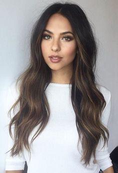 55 impresionantes tonos de cabello castaño que te encantarán » Largo Peinados