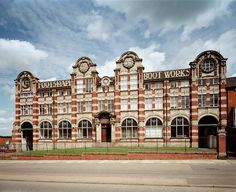Barratt Shoe Factory, Northampton, Northamptonshire.  The Barratt boot and shoe company was established in 1903 and had this neo-baroque factory built for them in 1913.