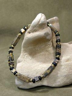 Mens Bracelet  Mans Jewelry  Beaded Bracelet  von StoneWearDesigns #men'sjewelry