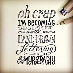 Oh crap. I'm becoming obsessed with hand-draw lettering & typography. __ Hand Lettering by [ts]Christer
