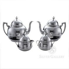 Georgian pewter coffee set.  Handcrafted in the United States.