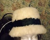 Vintage, Mod, late, 60s, early, 70s, Gorgeous, Designer, Womens Hat, white faux fur, in a bucket style, size 21 by vintagefinds61 on Etsy, $34.00 USD
