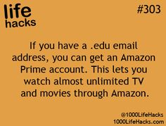 If you have a .edu email address, you can get an Amazon Prime account. This lets you watch almost unlimited TV and movies through Amazon.