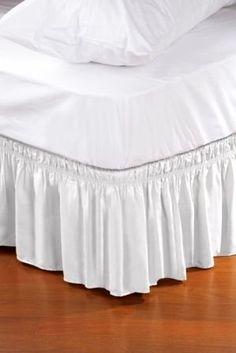 Amazon.com: Wrap Around Style Easy Fit Elastic Bed Ruffles for Twin and Full Size Beds: Bedding & Bath