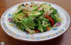 After a lifetime of avoiding Brussels sprouts, I am now a big fan of them, thanks to this tasty salad which features, leeks, red peppers & a yummy vinaigrette.