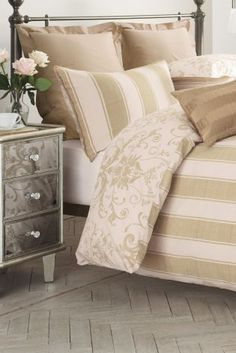 Buy 2 Pack Gold Damask Bed Set from the Next UK online shop