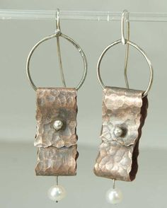 Shoply.com -Folded  - Earrings - Metal Mix, Sterling and Copper. Only $45.95