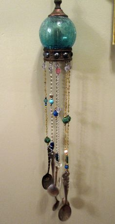Upcycled wind chime.