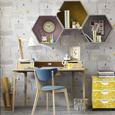 Mid-century home office | Home office | PHOTO GALLERY | Ideal Home | Housetohome.co.uk