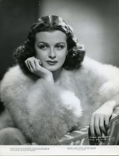 Actress Joan Bennett was born Feb 27, 1910. She worked on stage and appeared in more then 70 films from the silents long into the sound era and worked in TV as well. Some of her many credits include Scarlet Street, The Women in the Widow, Me and My Gal, Little Women (1933), The Macomber Affair and Father of the Bride. She played Elizabeth Collins Stoddard on TVs Dark Shadows in the mid 60s-early 70s. She passed in 1990.
