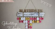 sonnengedanken: DIY-Geburtstagskalender