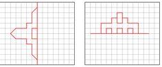 Figuras para imprimir y realizar la otra mitad respecto al eje de simetría.          ¿Te han resultado fáciles? Prueba ahora con estas. Tr...
