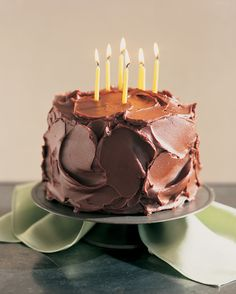 Great swoops of glossy frosting make this a wonderfully exuberant cake with a dark backdrop for birthday candles. But this cake is just as suitable for afternoon snacks or a Sunday supper.