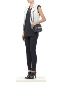 IRO - Mert' leather biker vest | White Leather Jackets | Womenswear | Lane Crawford