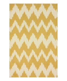 Look what I found on #zulily! Yellow Clarise Rug by nuLOOM #zulilyfinds