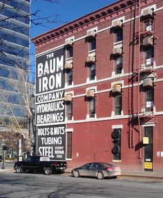 The Baum Iron Company ghost sign in Omaha