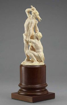 Circle of David Heschler born Memmington, Germany, 1611; died Ulm, Germany, 1667  Cain and Abel, around 1650 ivory, 30.7 x 10.4 x 10.5cm The Thomson Collection © Art Gallery of Ontario