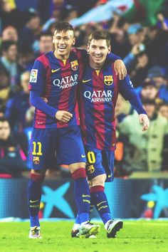 Neymar and Lionel Messi Soccer Pro, Soccer Fans, Football Fans, Football Players, Soccer Stuff, Fc Barcelona, Lionel Messi Barcelona, Best Football Shoes, Messi Pictures