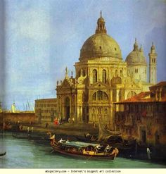 Canaletto. Santa Maria della Salute Seen from the Grand Canal. 1730. Oil on canvas. Gemäldegalerie, Berlin, Germany.