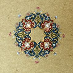 Persian art; I have stamps that look like this....good color scheme to use