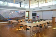 The light-filled conference room in the Kaetsu Centre. A Japanese Educational and Cultural Centre based on site at Murray Edwards, Cambridge.