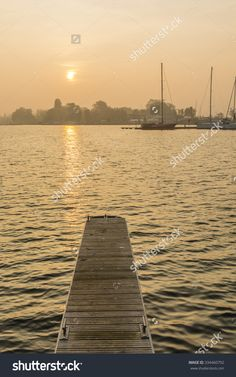 Szczecin, Poland - October 31, 2015: Sailboats Moored On The Lake In The Morning Stock Photo 334460792 : Shutterstock