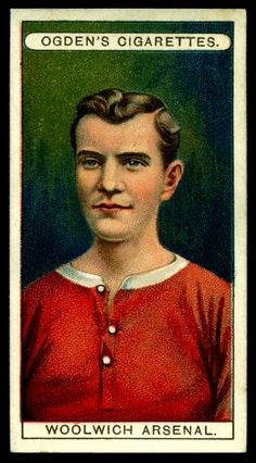 "https://flic.kr/p/rKRpZ3 | Cigarette Card - Woolwich Arsenal | Ogden's Cigarettes ""Football Club Colours"" (series of 50 issued in 1906) #18 Woolwich Arsenal"