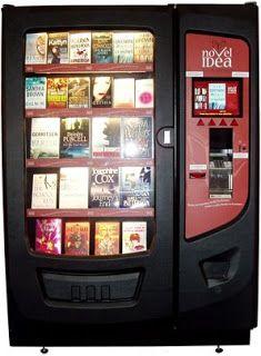 Una máquina expendedora de libros! Qué buena idea!