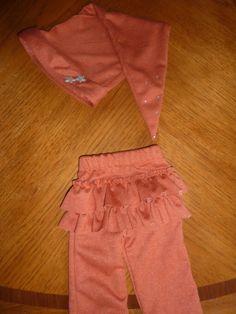 Burnt Orange Newborn Longstocking Hat and Ruffle by sewsueprops, $42.00