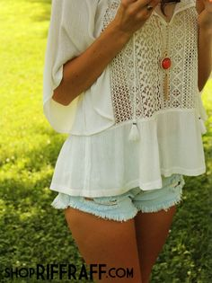Crochet detailed boho top from shopriffraff!: