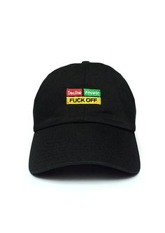 dc381e21e5b05 1st Class FVCK OFF Cap in Black Streetwear Fashion