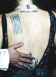 angelina jolie tattos
