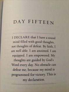 I Declare Day 15
