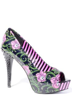 Dead Roses High Heels | PLASTICLAND