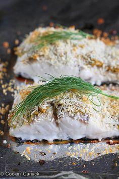 Hummus-Crusted Baked Fish Recipe {Barramundi} | cookincanuck.com