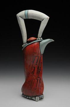 innovation pottery - Ceramics and Pottery Arts and Resources Pottery Teapots, Ceramic Teapots, Ceramic Pottery, Ceramic Art, Kintsugi, Cerámica Ideas, Teapots Unique, Sculptures Céramiques, Tea Pot Set