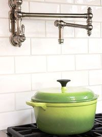 A friend of mine has that! It is so you can put water in your pots w/o having to carry it to and from the sink... excessive- maybe... useful -Yeah!