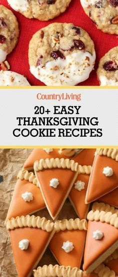 Fill your home this season with the aromas of oatmeal, pumpkin, and butterscotch thanks to these Thanksgiving cookie recipes.