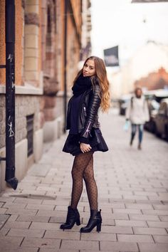 Chic Winter Outfit With Tights